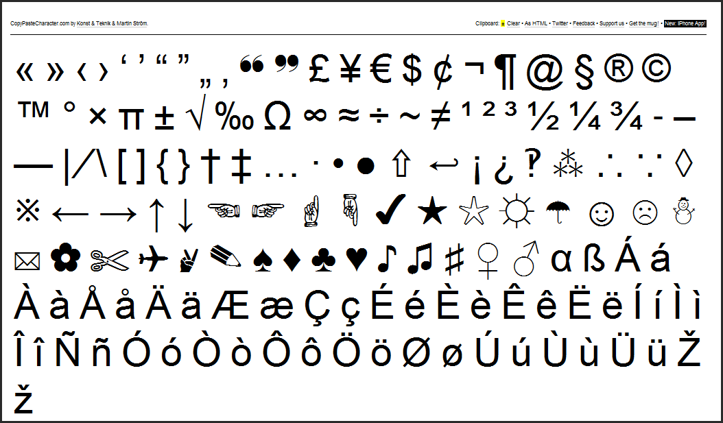 SearchReSearch: Trick of the day: copypastecharacter.com ...