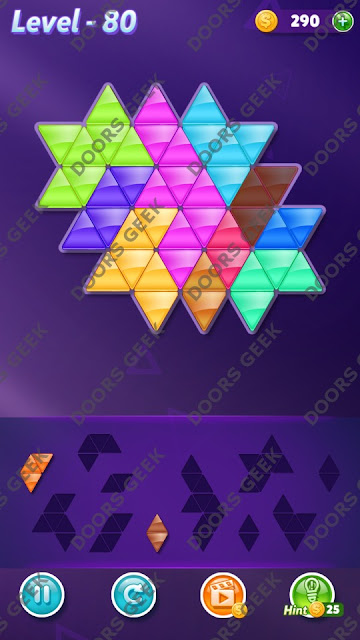 Block! Triangle Puzzle 10 Mania Level 80 Solution, Cheats, Walkthrough for Android, iPhone, iPad and iPod