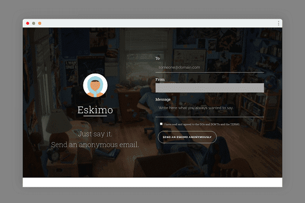 Eskiimo: Send Anonymous Emails [DOESN'T END IN SPAM]