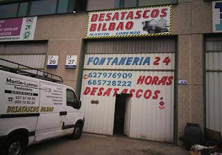 Desatascos de tuberias y desagües en Bilbao y Barakaldo