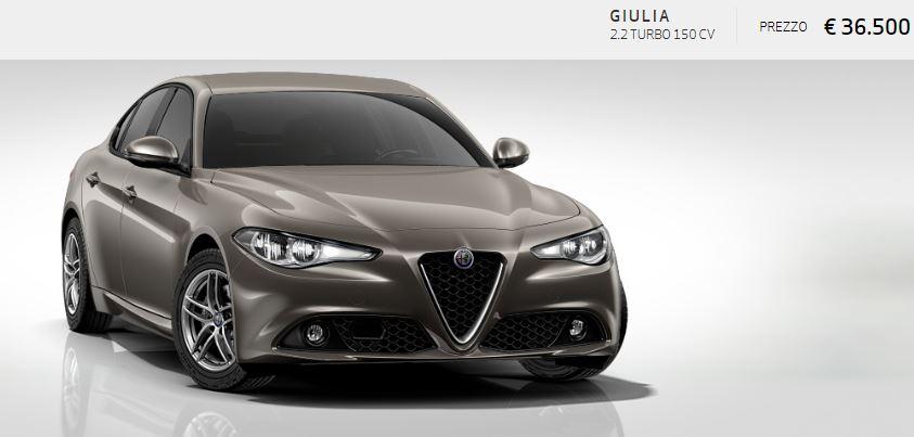 Alfa Romeo Giulia colore Metallizzato-Titanio Imola