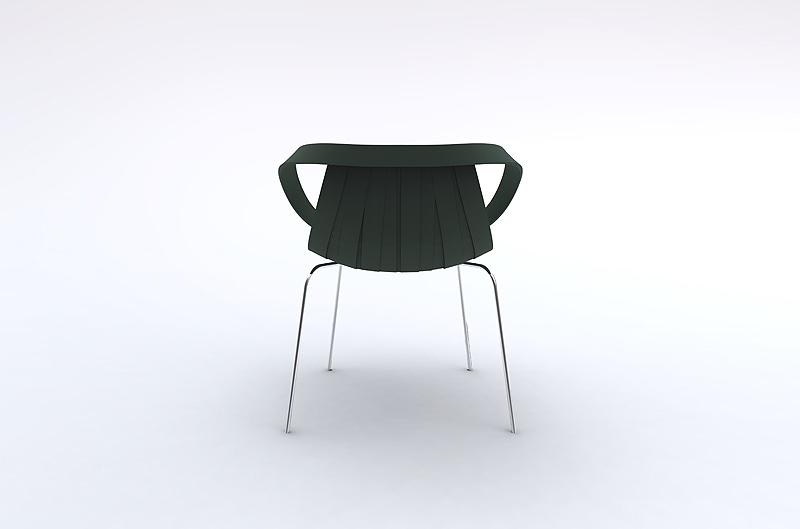 silla impossible wood base blanca moroso