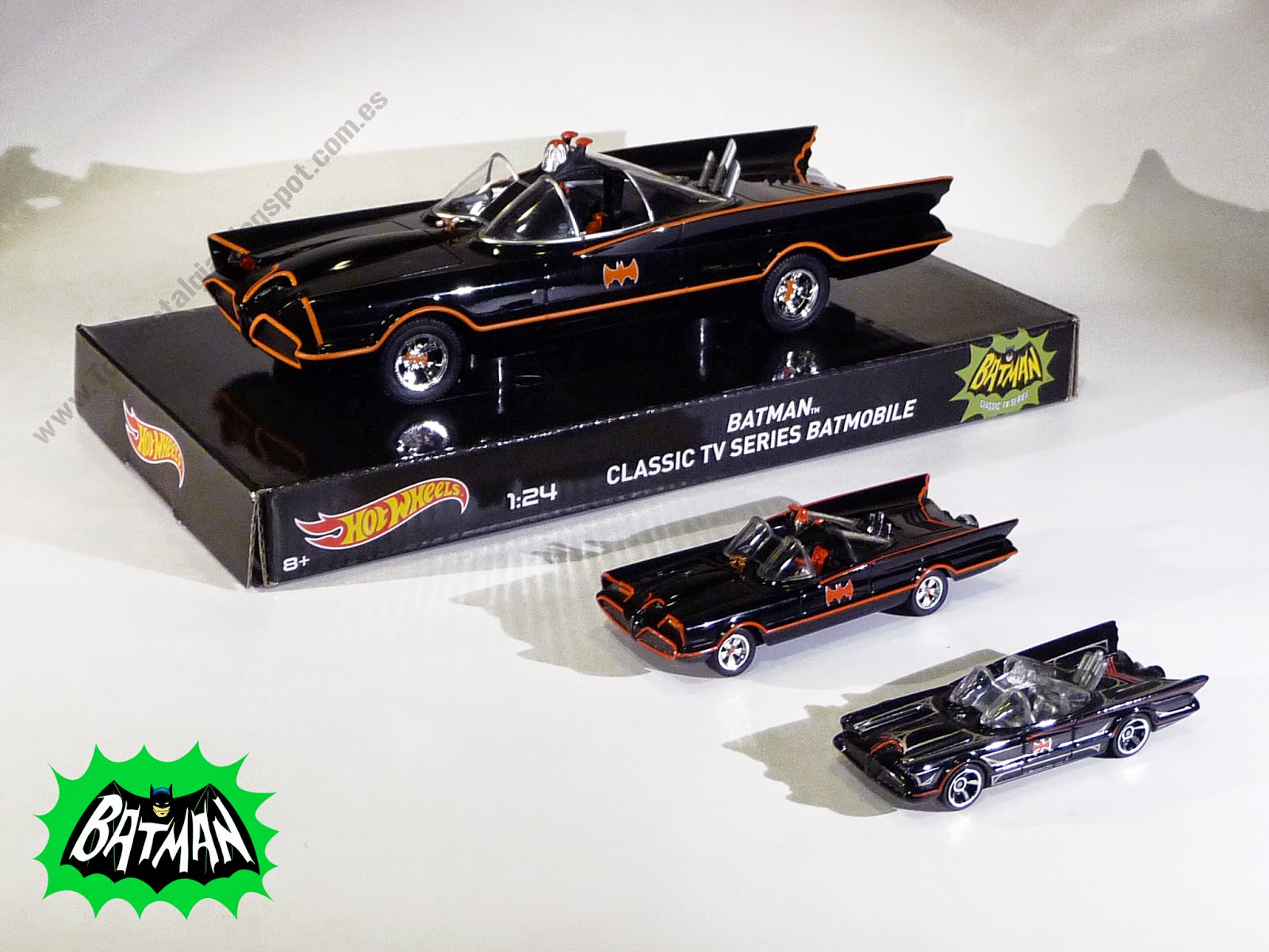 Hot Wheels Batman Batmobile 1966 TV Show -1:64/1:50/1:24-Batimóvil-Batimovil