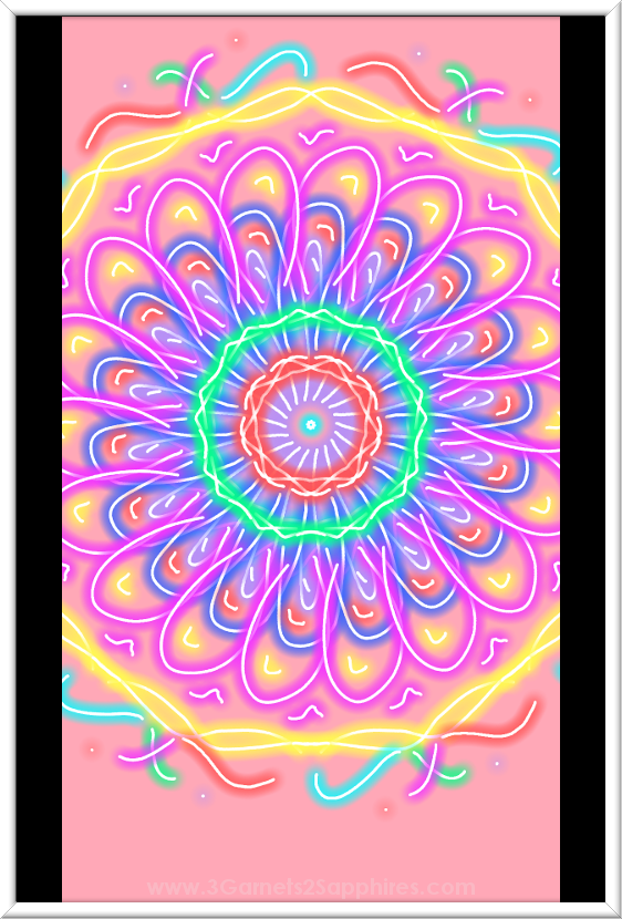 Doodle | Magic Joy . . . a fun, free, and easy to use Android doodling app  |  3 Garnets & 2 Sapphires