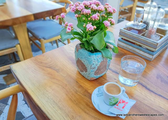 Greek coffee in Alegro's Mykonos