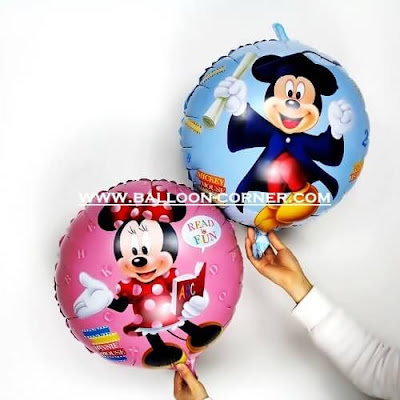 Balon Foil Bulat Mickey Mouse Graduation