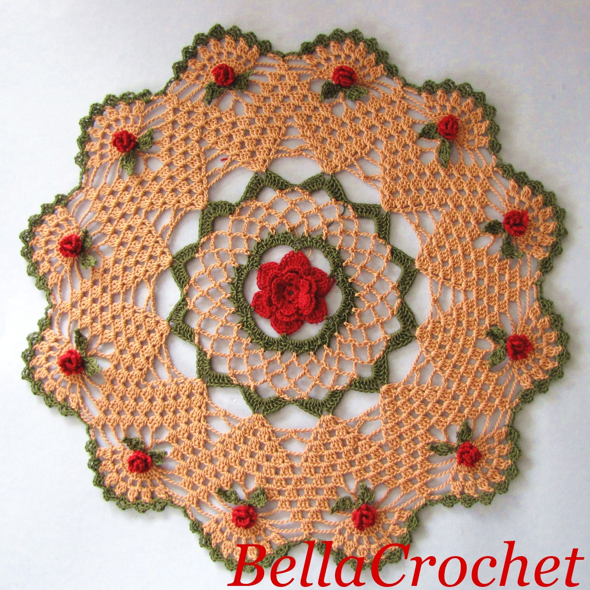 Bellacrochet mavanees roses a free crochet pattern for you i am pleased to share this free pattern with you this doily was named for my mother mavanee joann who loved roses and taught me how to crochet bankloansurffo Images