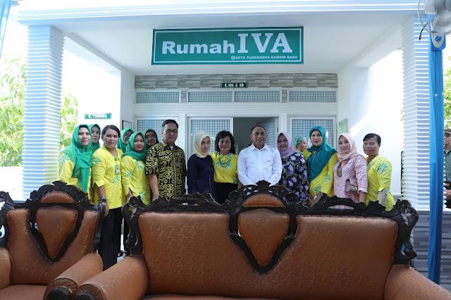 Gubsu Edy Rahmayadi saat mengunjungi rumah IVA Test di Asahan.
