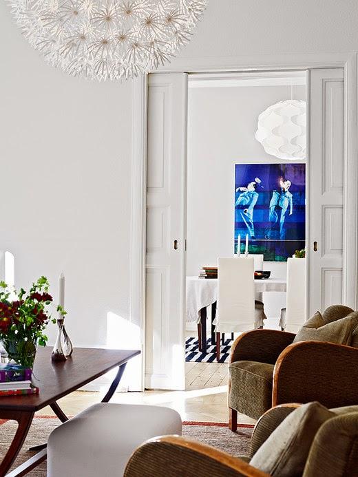 Floral design in Modern living room
