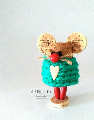 ratón, corchos, winecork, ideas con corchos, diy, handmade