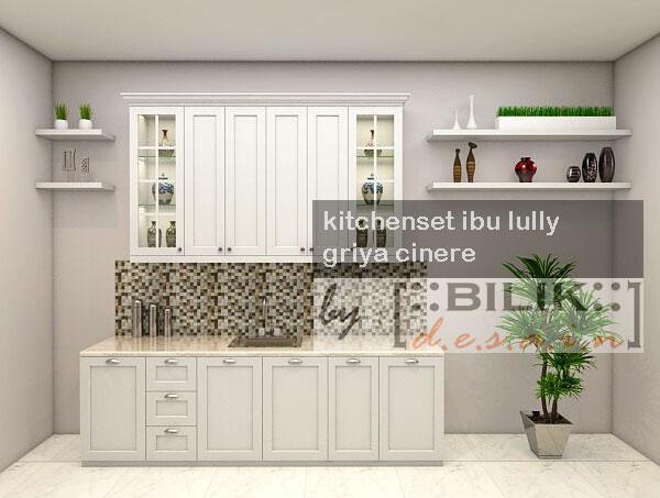 Kitchen Set Putih Glossy Finishing Duco Semi Classic Style Di Cinere
