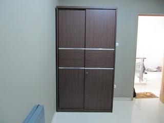 Lemari 2 Pintu Geser - Wardrobe 2 Slide Doors - Furniture Semarang