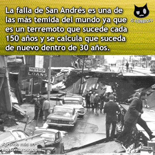 La falla de San Andrés, una de las fallas más temidas en todo el mundo.