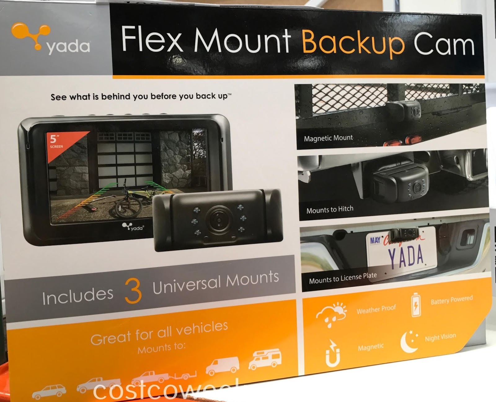 Make going in reverse in your car a lot easier with the Yada Flex Mount Backup Camera