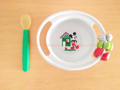 plato infantil con piezas lúdicas cuchara silicona mercadona deliplus