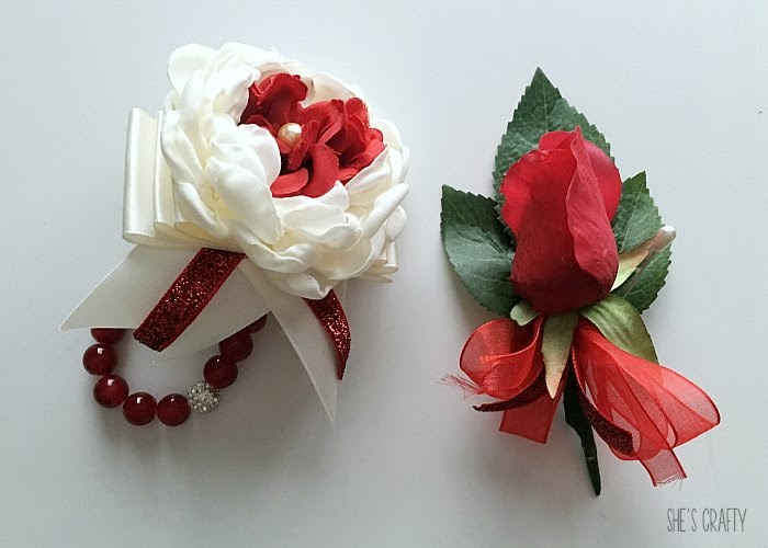 DIY Corsage and boutonniere for Prom