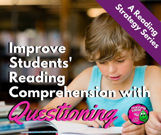 Learn how to use the reading strategy Questioning to improve reading comprehension. Blog post breaks down questioning into before, during, and after reading questions.