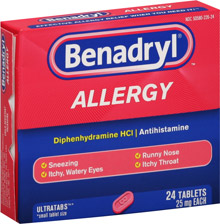 Benadryl dog dose rate