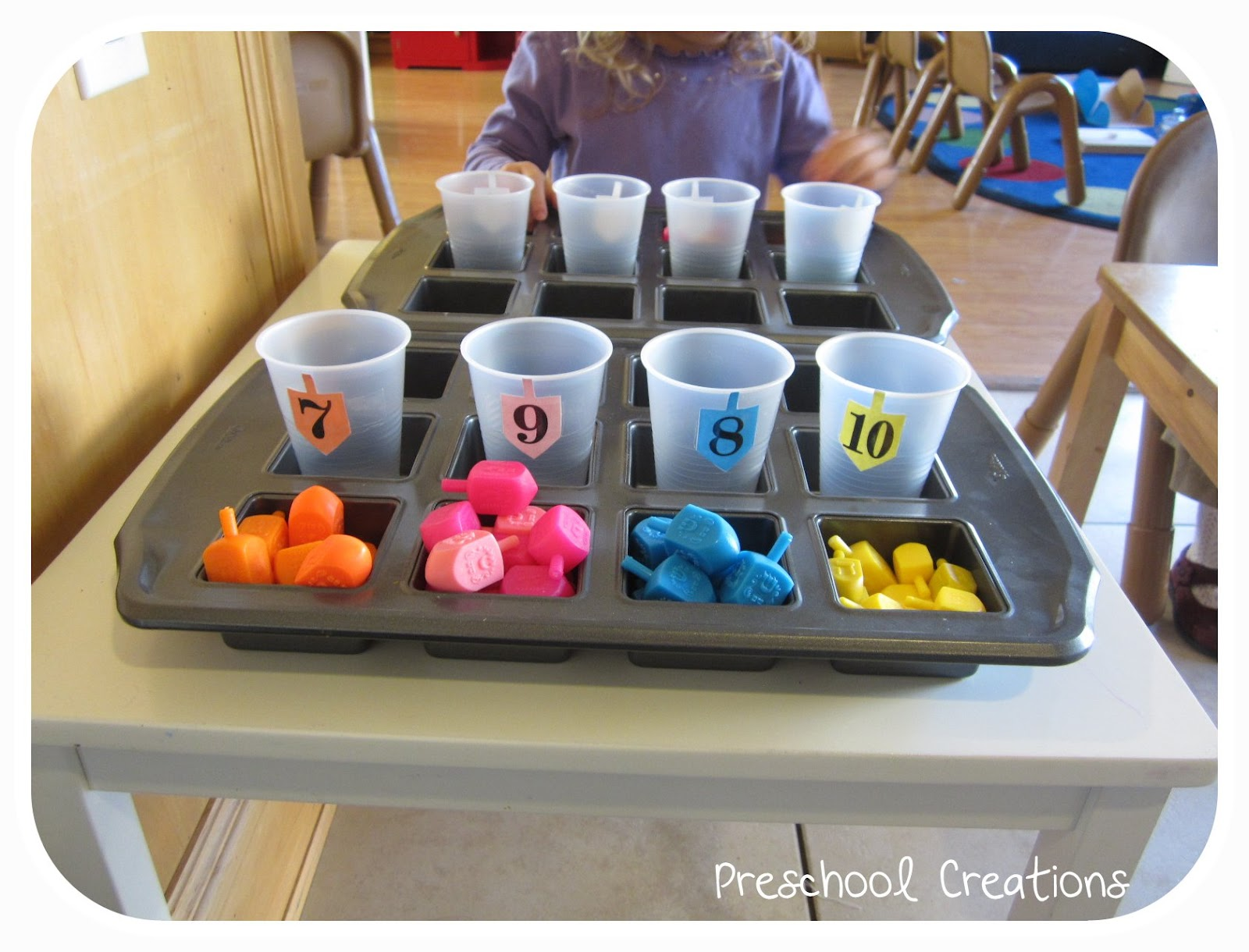 Preschool Creations Dreidel Counting