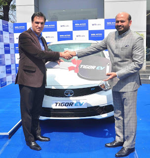 Tata Motors signs an MoU with Wise Travel India to supply Tigor EVs in New Delhi