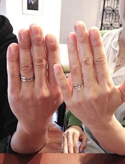 銀座一丁目オーダージュエリーサロンで出来上がったマリッジリング(結婚指輪)を受け取りました。