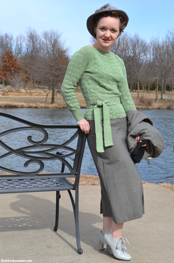 Flashback Summer: Early 1930s Gray Suit - Simplicity 2395, Simplicity 1739