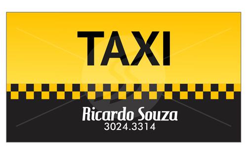 cartao de visita taxistas em sao paulo - Cartão de visita criativo para taxistas
