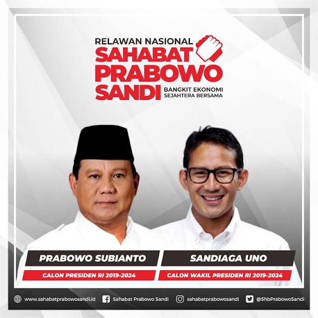 'Sahabat Anies-Sandi' Akan Berganti Jadi 'Sahabat Prabowo-Sandi'