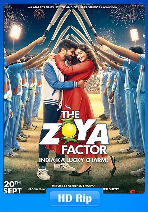 The Zoya Factor 2019 Hindi 720p HDRip ESubs x264 | 480p 300MB | 100MB HEVC Poster