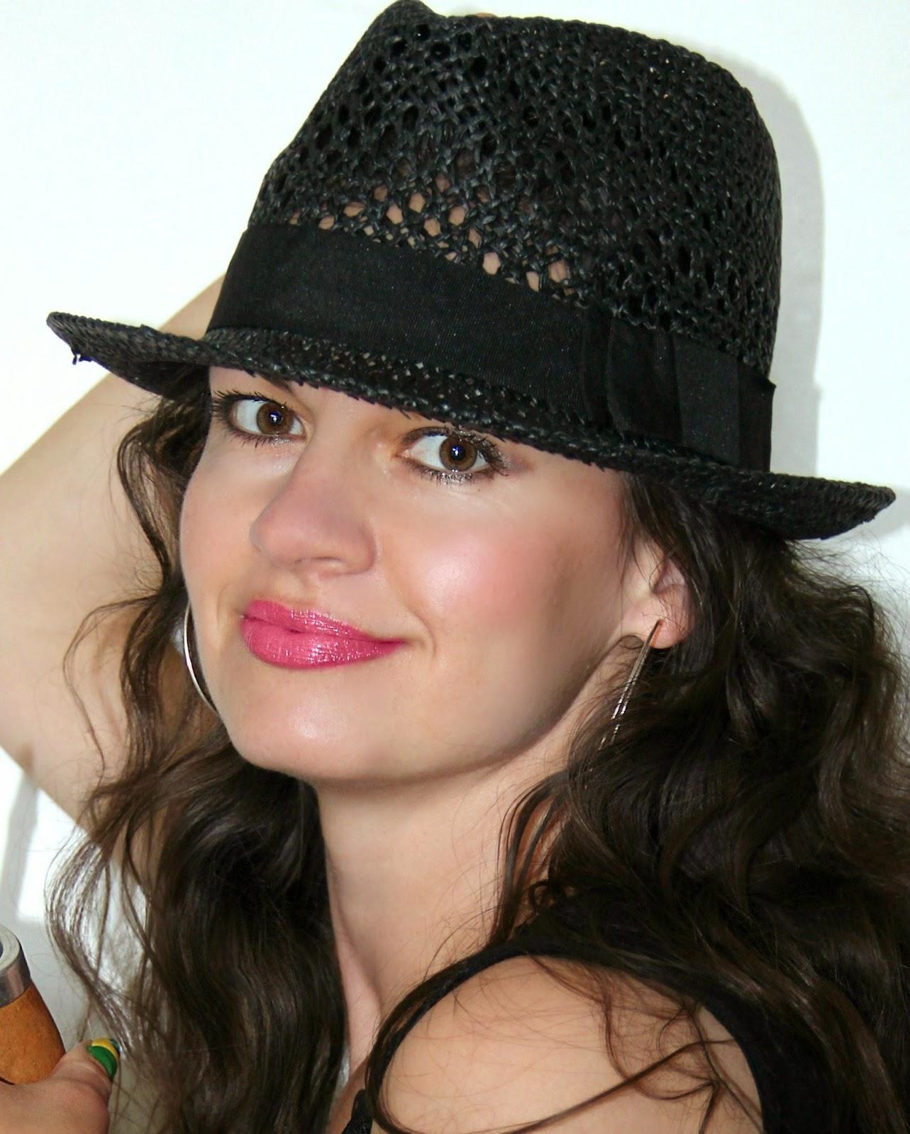 f4fcc2861f5 JASMINE   BLACK LACE  BLACK STRAW HAT from H M.......Černý slaměný ...