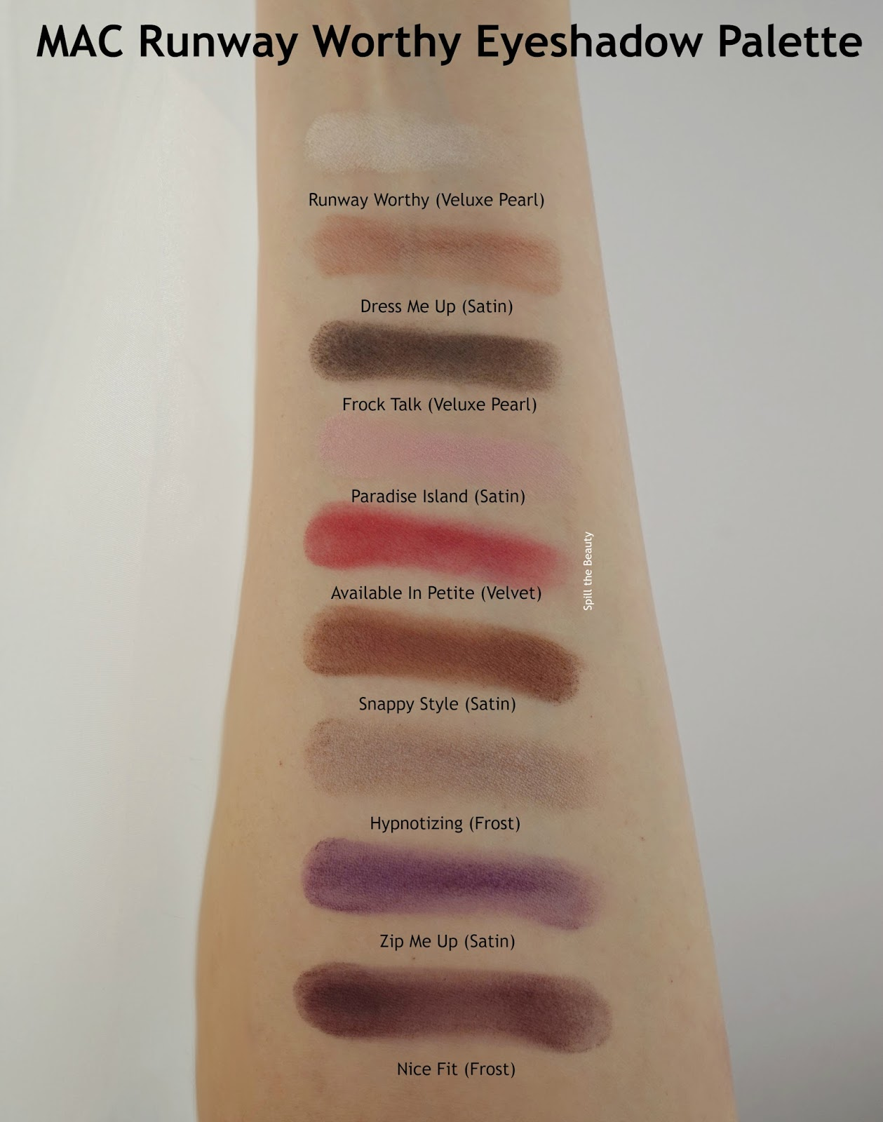 MAC Runway Worthy Eyeshadow Palette Review Swatches
