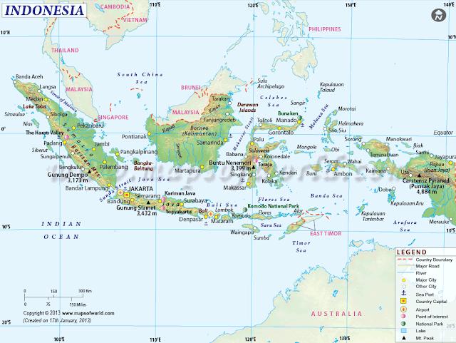 Negara-negara yang berbatasan dengan Indonesia