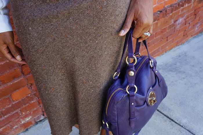elliott lucca purple purse
