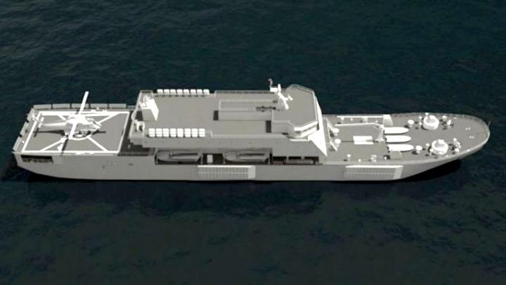 Desain Kapal Perang LPD TNI AL buatan PT PAL Indoensia