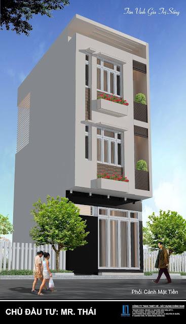 Thiết kế nhà phố anh Thái ở Biên Hoà - Đồng Nai