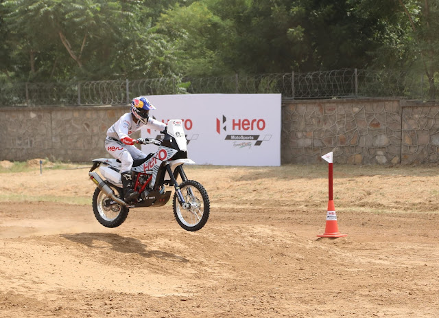 2.Hero MotoSports Team Rally rider  at Hero CIT in Jaipur today
