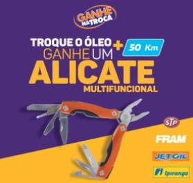 Promoção Postos Ipiranga 2018 Ganhe Alicate Multifuncional Troca de Óleo
