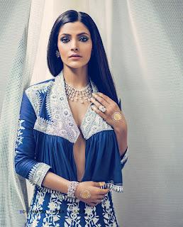 Saiyami Kher Bra Less Hot Boobs for Harpers Bazaar Bride Magazine August 2016