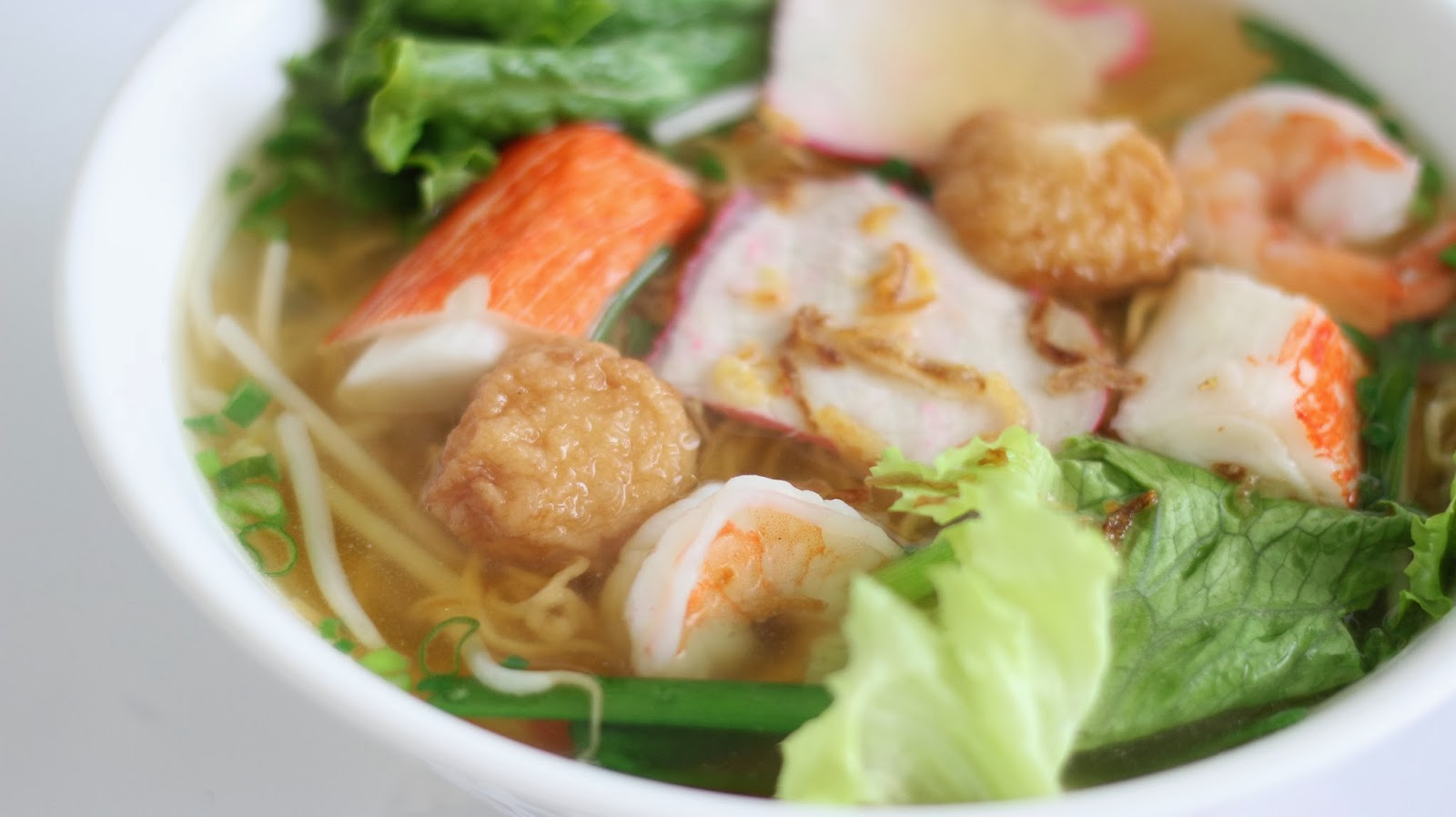 Vietnamese Pork and Seafood Noodle Soup ...