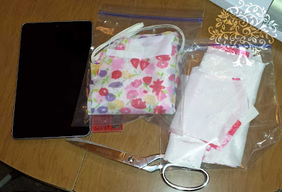 Stay Organized with Pattern Testing put pattern pieces in zip top bags and use a tablet for instructions