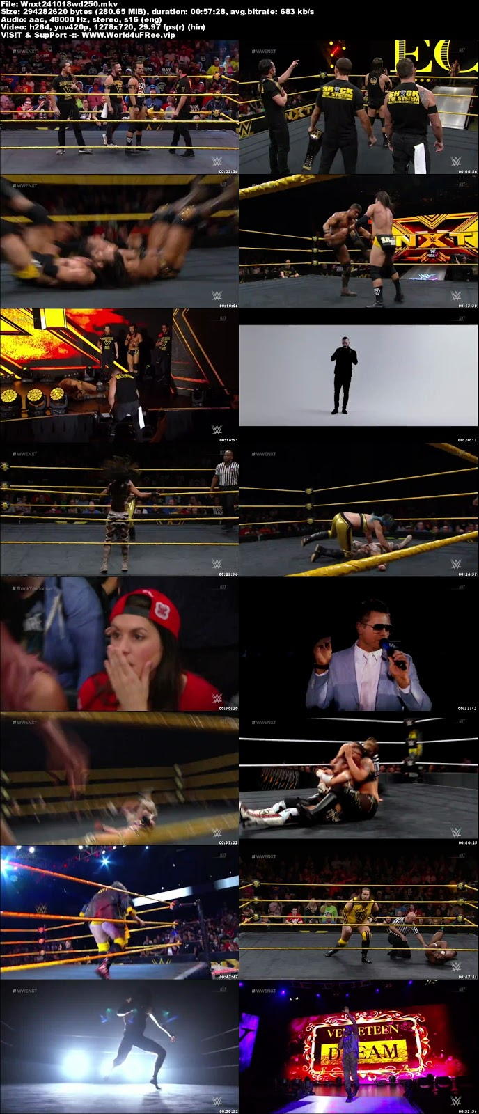 WWE NXT 24 October 2018 720p WEBRip 250MB x264 hollywood tv show wwe show WWE NXT 26 April 2017 200mb compressed small size free download or watch online at world4ufree.fun