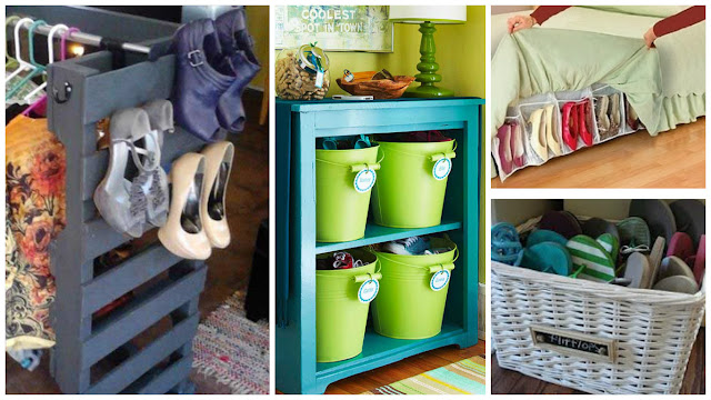 12 ideas ingeniosas para organizar y guardar nuestros - Como guardar zapatos ...
