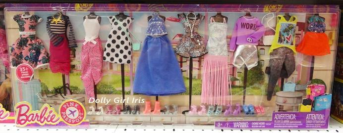 barbie pink passport fashion pack   dolly girl iris