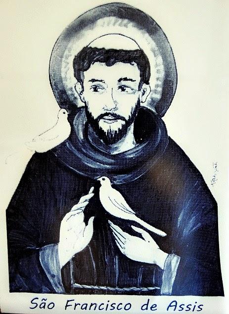Santo Antonio de Lisboa - Imagem da São Francisco de Assis, na Casa Açoriana