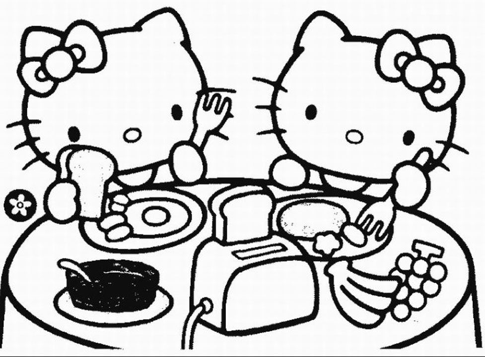 free coloring pages and hello kitty | Lonely Roses: رسومات هلو كيتي (Hello Kitty) للتلوين