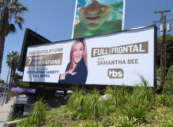 Samantha Bee 2017 Emmy nominee billboard