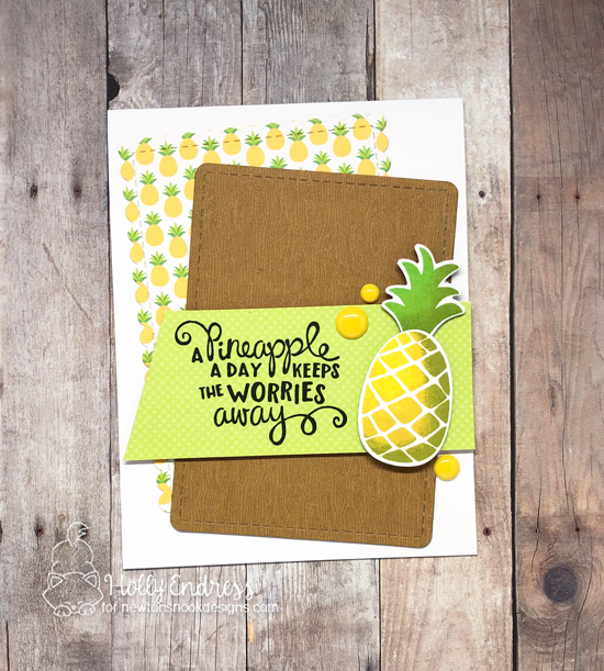 A Pineapple a Day Card by Holly Endress | Pineapple Delight Stamp Set by Newton's Nook Designs #newtonsnook #handmade