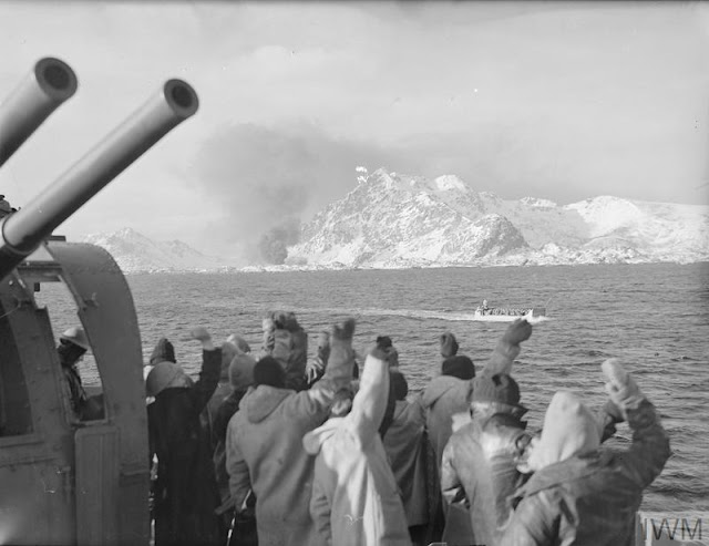 4 March 1941 worldwartwo.filminspector.com Lofoten Islands Operation Claymore returning commandos