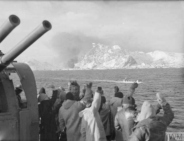 4 March 1941 worldwartwo.filminspector.com Lofoten Islands Operation Claymore returning commandos