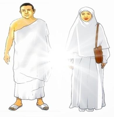Contoh pakaian Ihram Laki - Laki dan Perempuan